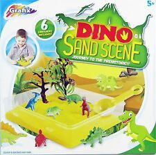 Grafix Dinosaurs Sand Pit Scene Play Set/Kit Children Toys Art And Craft