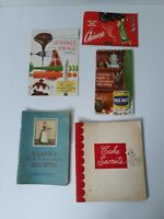Lot of 5 Antique Cookbook Booklets Pamphlets Recipe Books Advertising