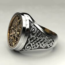 Punk Gold Metal Malone Ring Jewelry Fashion men's Ring Cool Ancient Vintage