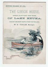 RARE Card Brochure Gibson House Taylor - Catawba Penn Yan NY Keuka Lake 1889