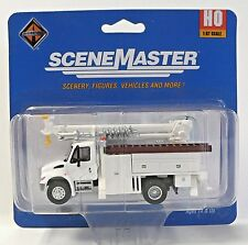HO 1:87 Scale Maintenance of Way Utility Truck with Drill Scale Model Railroad