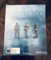 Death Stranding Digital Deluxe Content PS4 Collector's Edition DLC Slip, NO GAME