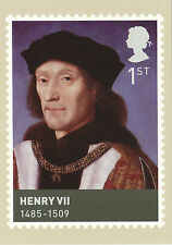 POST OFFICE POSTCARD - KINGS  &  QUEENS  OF  ENGLAND  -  HENRY  VII