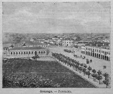 1891= MANTOVA,GONZAGA,Panorama.MONFERRATO =MANTUA.Xilo+Passepartout.Etna.Premoli