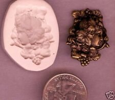 Fancy Victorian Lady Polymer Clay Push Mold #2