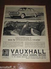 AL2=1963=VAUXHALL VX4/90=PUBBLICITA'=ADVERTISING=WERBUNG=