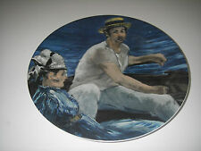 Collector Plate Pmr Bavaria Jaeger E&R Golden Crown In The Sailing Boat Monet.