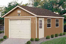 Garage Plans 12 x 24 Structures Building / Gable Shed Blueprints, Design #51224