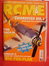 "RCM&E MAY 2006 MODEL AIRCRAFT APOLLO 2 PLANS 91"" SPAN PETE KESSELL SWORDFISH MK1"