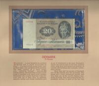 Most Treasured Banknotes Denmark 1980 20 Kroner P 49b.3 UNC A5801A