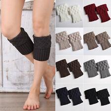 Women Knit Crochet Trim Boot Cuffs Toppers Short Ankle Socks Winter Leg Warmer