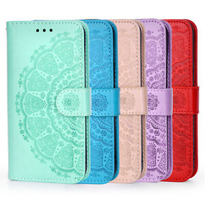 For Motorola Moto G9 Plus E 2020 Mandala Leather Wallet Flip Stand Case Cover