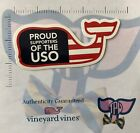 TPW Vineyard Vines Proud Supporter USO USA Military Sticker Decal Stocking