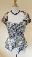 Vivienne Westwood check peplum blouse Size 44 New Without Tags