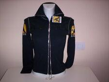 Maglia felpa A-Style ragazza donna sweatshirt con zip collo alto cotone nera M