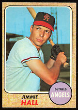 1968 TOPPS OPC O PEE CHEE BASEBALL 121 JIMMIE HALL NM CALIFORNIA ANGELS CARD