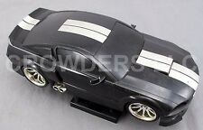 1 Badd Ride 2006 Black w/ Silver Stripe Ford Mustang GT RC Car 49MHz 1:18 Scale