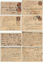 1443 - Gran Bretagna - Lotto di 4 interi postali per Milano, 1881/90