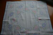 Vintage Irish Linen Cross Stitch Hand Embroidered Afternoon Tea Cloth