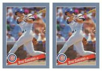 (2) 1993 Hostess Baseball #2 Ryne Sandberg Baseball Card Lot Chicago Cubs