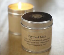 TWO (2) X ST EVAL THYME AND MINT TIN CANDLES  - NEW