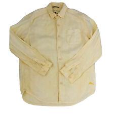 Tommy Bahama 100% Linen Men's Size S/P Yellow Long Sleeve Shirt