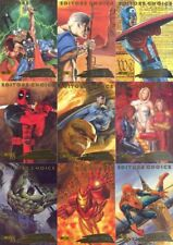 MARVEL CREATORS 1998 EDITORS CHOICE     SINGLE CARDS OR 12  CARD SET.
