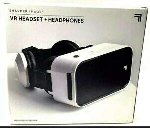 SHARPER IMAGE VR HEADSET + HEADPHONES AGES 14+ BATTERIES NOT REQUIRED