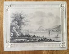 1828 - Coastal View, Identified On The Reverse.