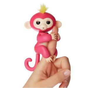 Fingerlings Interactive Baby Monkey Bella Finger Toy Pink w/Yellow Hair WowWee
