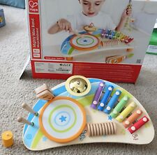 Hape Mighty Mini Band Wooden Percussion Instrument,New Item Broken Stand Leg