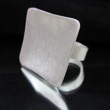 Fashion Silver 925 Ring HILL TRIBE SQUARE HALO Anello Free Size Adjustable