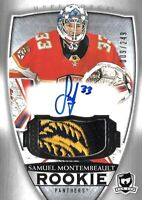 "2018-19-U.D. "" THE CUP"" ROOKIE-SAM MONTEMBEAULT  R.C. AUTO PATCH  #/249 PANTHERS"