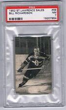 1952-53 St. Lawrence Sales Hockey Card Ottawa #68 Bill Richardson Graded PSA 7