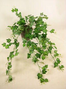 55cm Potted Green Ivy Trailing Artificial Plant Fake Ivy Brown Pot House Plant