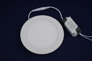 LED Panel Rund 3 6 9 12 15 18Watt Deckeneinbauleuchte Einbaustrahler Einbaulampe