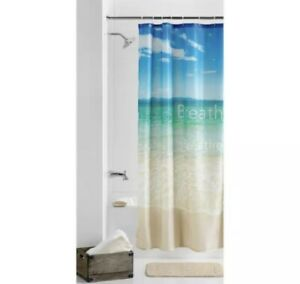 Shower Curtain 70 in x 72 in Photoreal Breathe Beach Printed Scenic Fabric