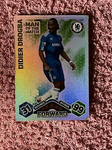 MATCH ATTAX 2009/10 DIDIER DROGBA MAN OF THE MATCH CARD GREAT