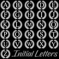WHITE INITIAL LETTER DECORATIVE MONOGRAM VINYL DECAL STICKER (L-03)