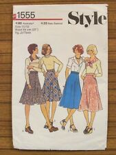 STYLE PATTERN - 1555 LADIES JUNIOR TEEN SKIRT BIAS FLARED GORED SIZE 11/12 UNCUT