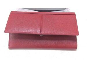Manzoni Leather Wallet, Red, Bi fold, New in Box
