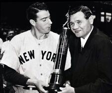 """Babe Ruth & Joe DiMaggio - 8"""" x 10"""" Photo - New York Yankee Baseball - 1948"""