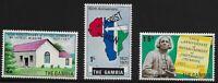 Gambia Scott #250-52, Singles 1971 Complete Set FVF MNH