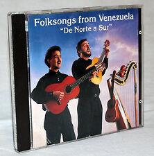 "CD - FOLKSONGS from Venezuela - ""De Norte a Sur"""