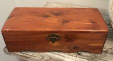 Small Cedar Chest Vintage Hinged Wooden Keepsake Trinket Box Jewelry Storage USA