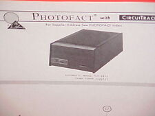 1969 Automatic Cb Radio Home Power Supply Service Shop Manual Model Pcr-6452