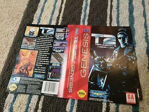 BOX ART ONLY T2 Judgement Day Terminator 2 II Sega Genesis Case OEM
