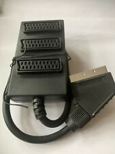 Male Scart Cable To 3 Port Female VGA Box