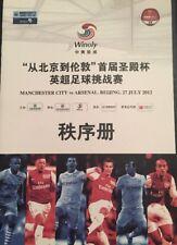 Manchester City V Arsenal. Beijing 27/07/2012 Friendly