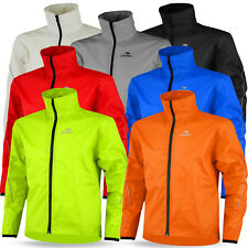 Mens Cycling Rain Jacket Waterproof High Visibility Running Top Rain Coat